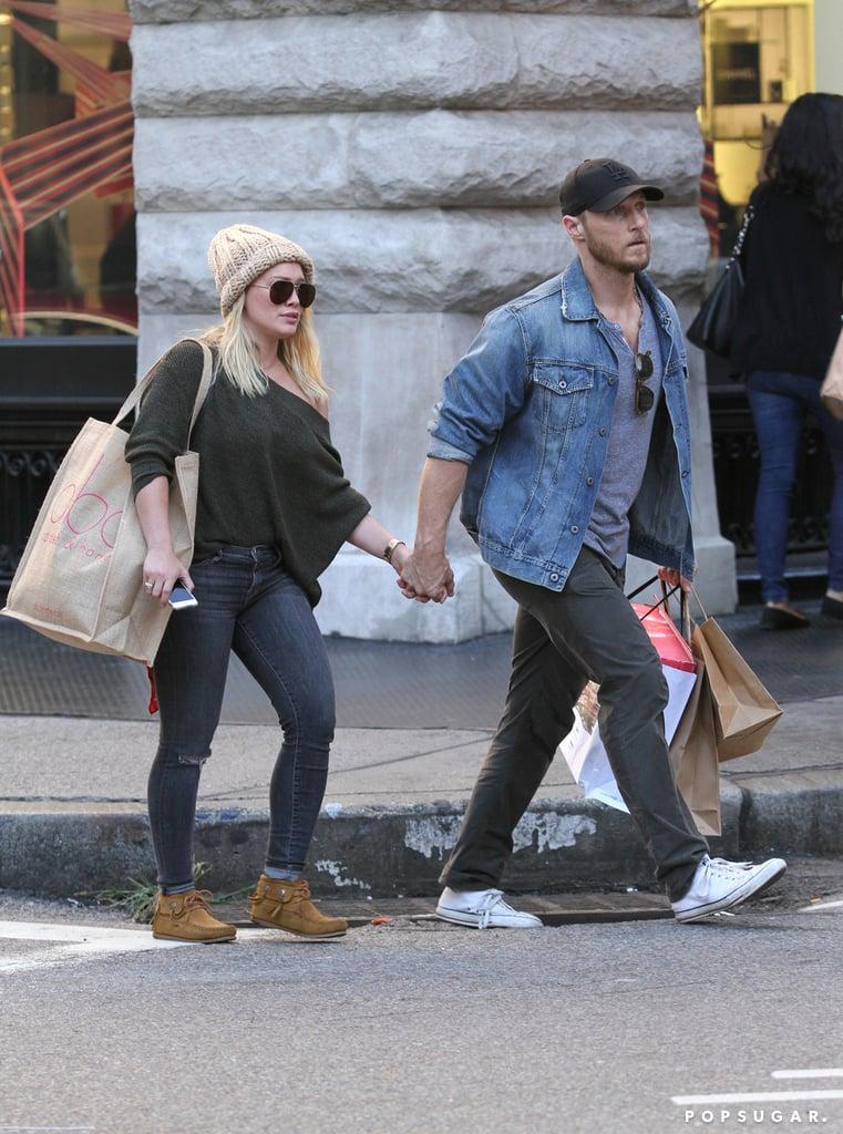 Hilary Duff Holding Hands With Boyfriend September 2016