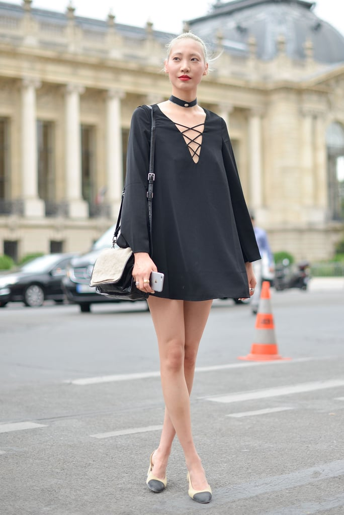 This minidress has just the right amount of edginess.