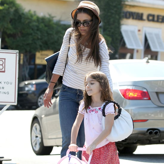 Katie Holmes and Suri Cruise at Brentwood Country Mart Pics