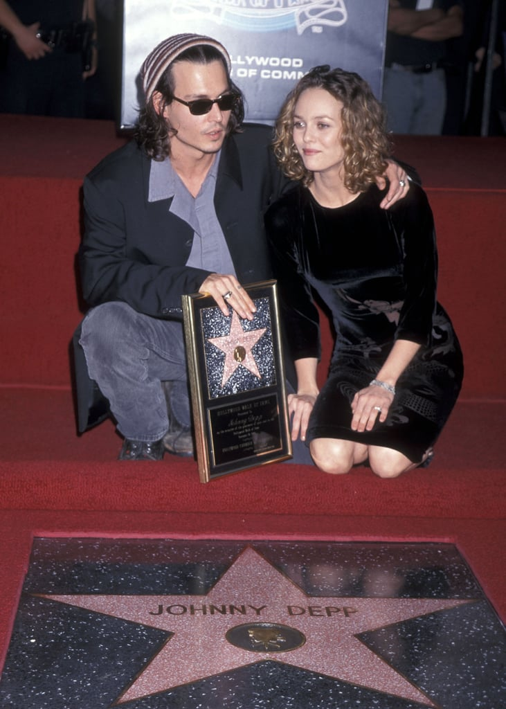 Vanessa supported Johnny at his Walk of Fame ceremony in LA in 1999.
