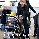 Claire Danes and Damian Lewis traveled out of LAX together.