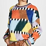 Essentiel Antwerp Tahini Intarsia Fluffy Sweater