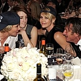 Emma Thompson and her daughter, Gaia Wise, chatted with Charlize and Sean.