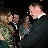 Jennifer Lopez with Prince William at the BAFTA Brits to Watch event in LA.
