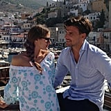 When celebrity pals, like Olivia Palermo and Johannes Huebl, come aboard the yacht, they're fair game for this photographer's lens.  Source: Instagram user privategg