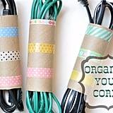 Toilet-Roll Cord Organizer