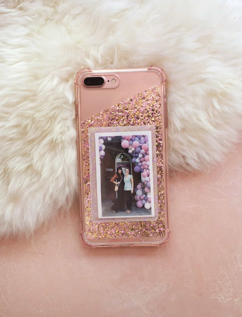 DIY Glitter Photo Cell Phone Case
