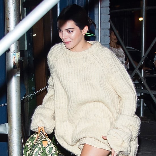 Kendall Jenner Wearing Oversize Cream Sweater