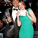 Matthew McConaughey and Jessica Chastain posed adorably.
