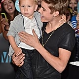 Justin Bieber was excited to be with his little brother, Jaxon, at the MuchMusic Video Awards in Toronto.