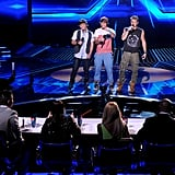 Emblem3 faced the judges.
