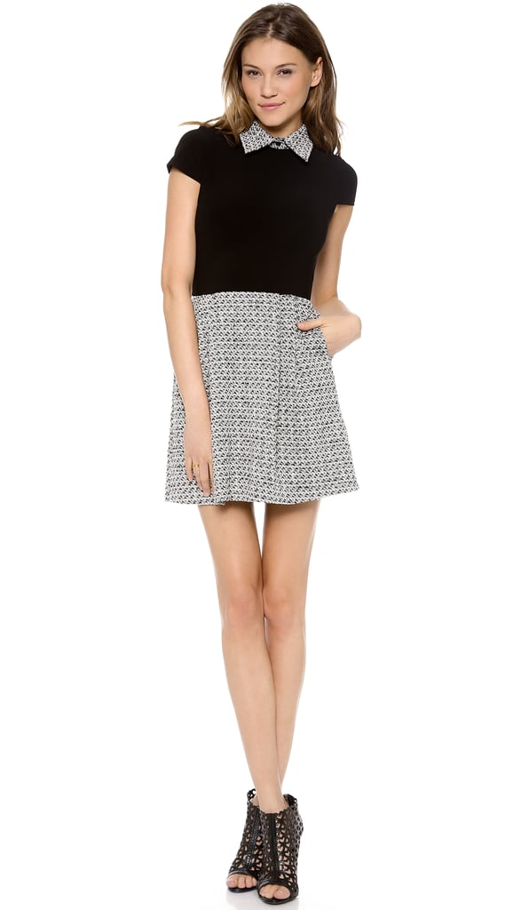 Alice + Olivia Charlotte Cap Sleeve Dress