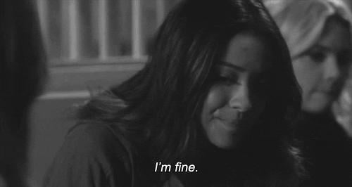 """The """"I'm Really Not Fine, Though"""""""