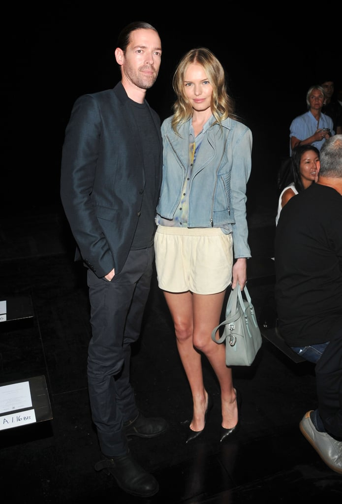 Michael Polish and Kate Bosworth posed together backstage.