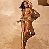 Rihanna's Gold Minidress Fenty Beauty
