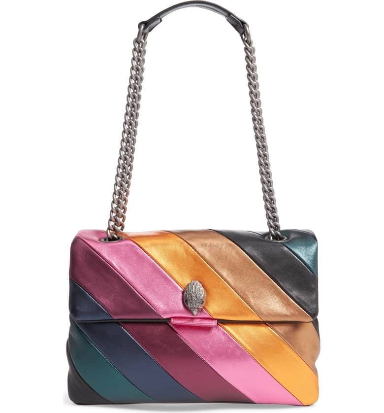 Kurt Geiger London Large Soho Rainbow Leather Shoulder Bag