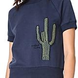 Banner Day Cactus Short Sleeve Sweatshirt ($188)