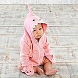 Baby Aspen 2-Piece Shark Happy Hoodie and Mittens Set