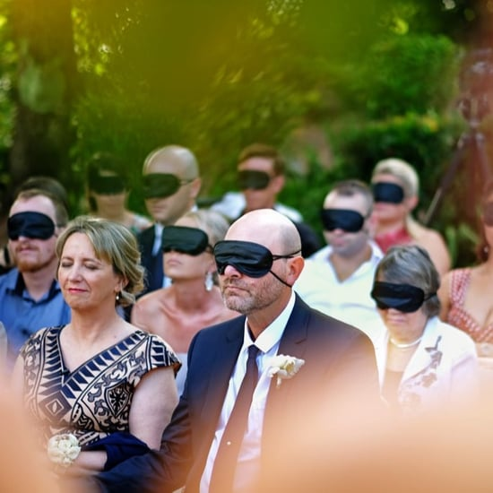 Groom Blindfolds Wedding Guests For Blind Wife
