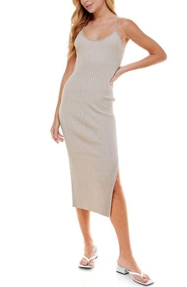 Wayf '98 Alicia T-Strap Midi Dress