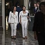 Alexandria Ocasio-Cortez White Blazer at State of the Union