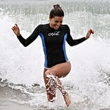 Eva Longoria splashed around in Malibu while shooting an episode of Ready For Love.