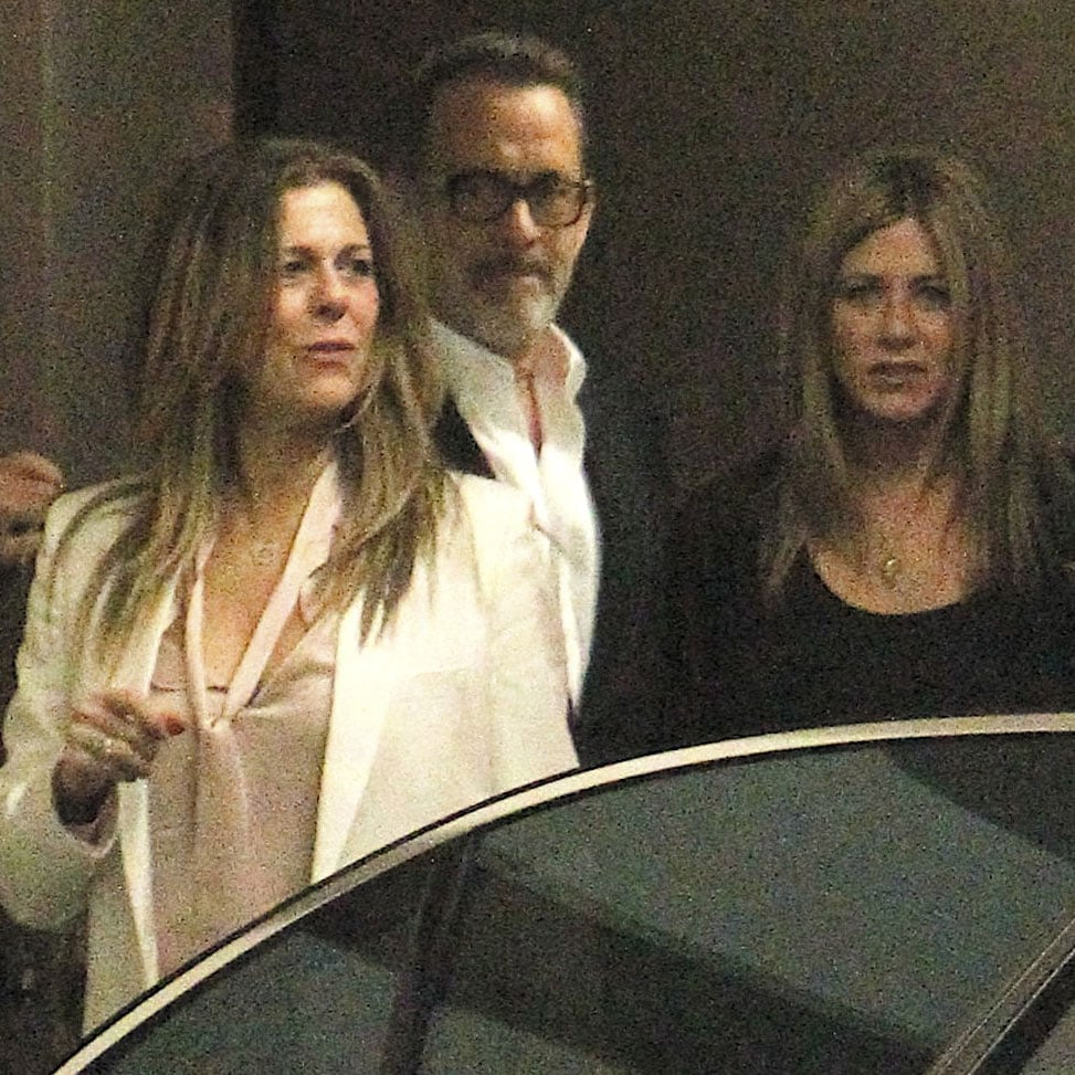 Tom Hanks and Rita Wilson shared a dinner date with Jennifer Aniston and Justin Theroux.