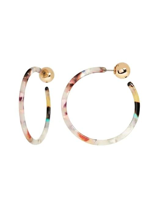 Resin Skinny Hoop Earrings