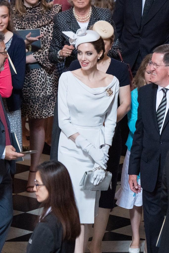 Angelina Jolie's Ralph & Russo Grey Dress