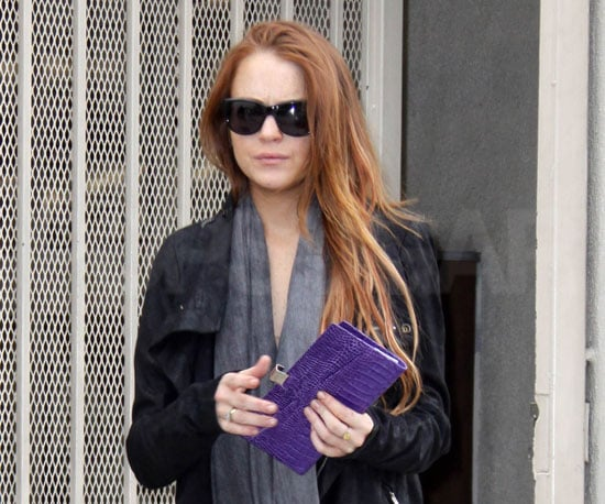 Slide Photo of Lindsay Lohan Running Errands in LA