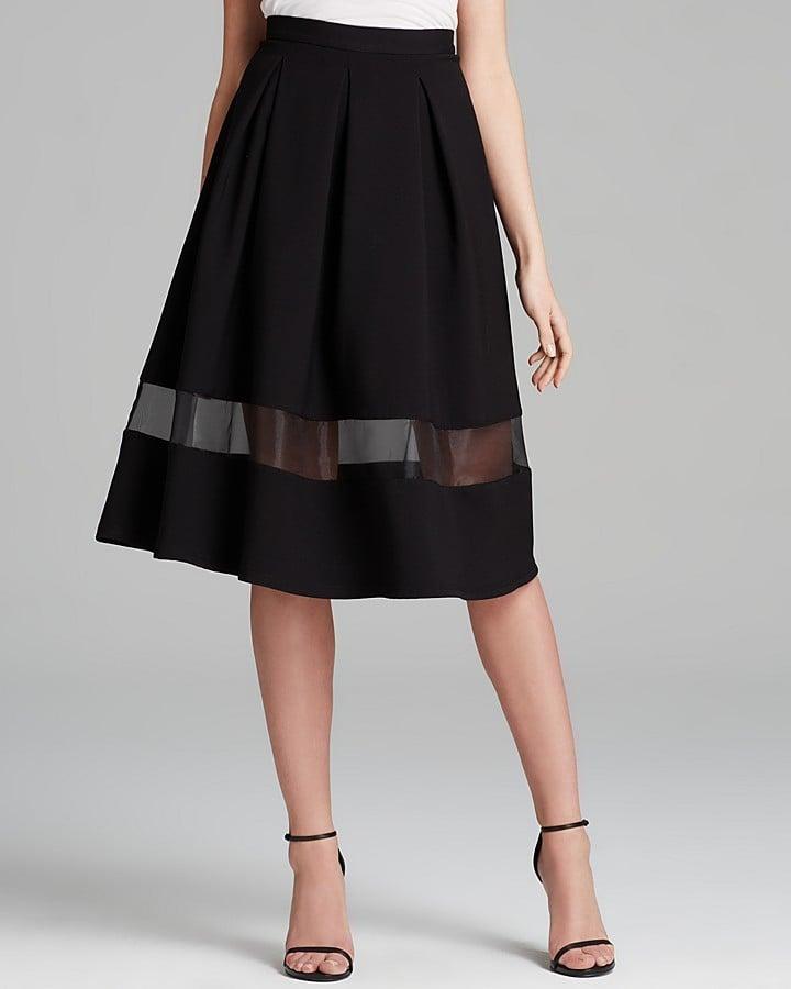 Aqua Sheer Inset Full Skirt