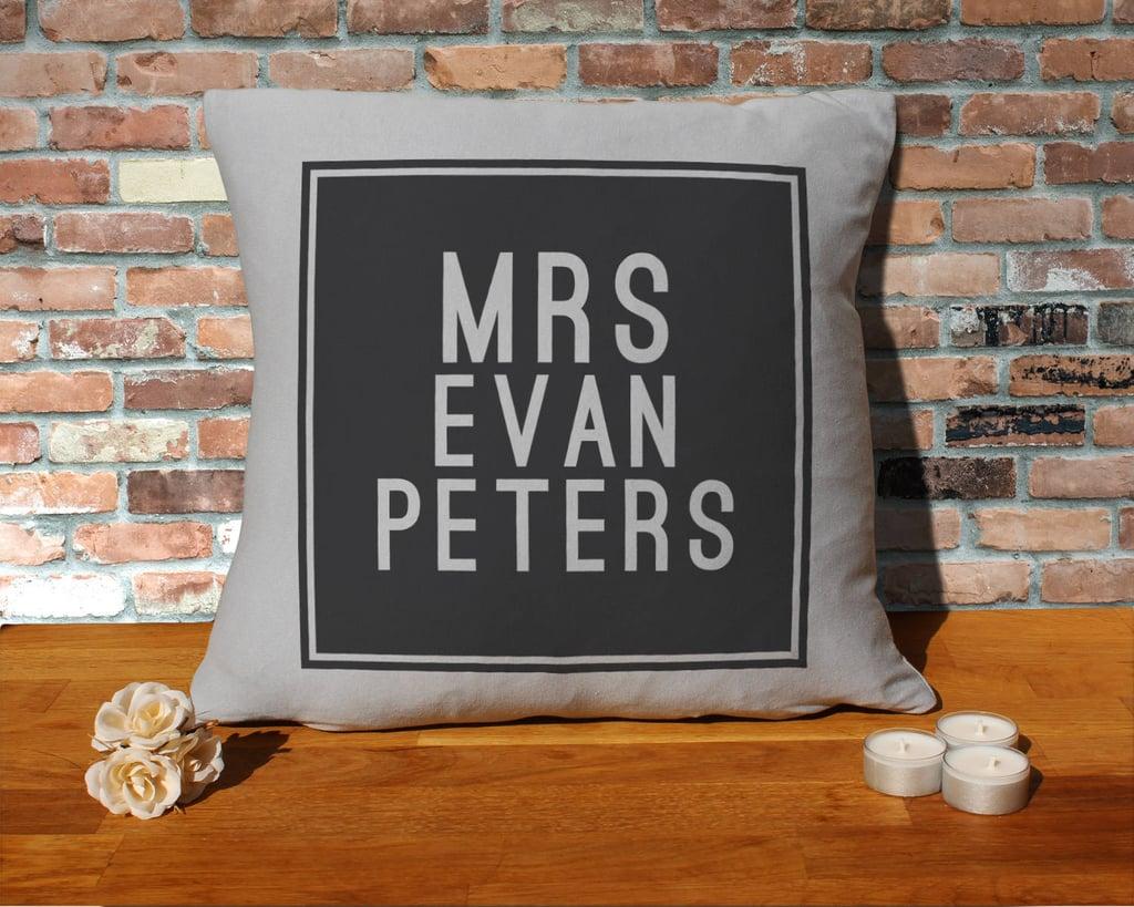 Mrs. Evan Peters Pillow