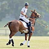 In May, Harry made fans everywhere swoon when he hit the field with his brother at the Audi Polo Challenge in London.
