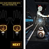 When you open up the Force Band app, you'll learn how to control BB-8.