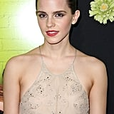 Emma Watson wore a Giorgio Armani gown for the LA premiere of The Perks of Being a Wallflower.