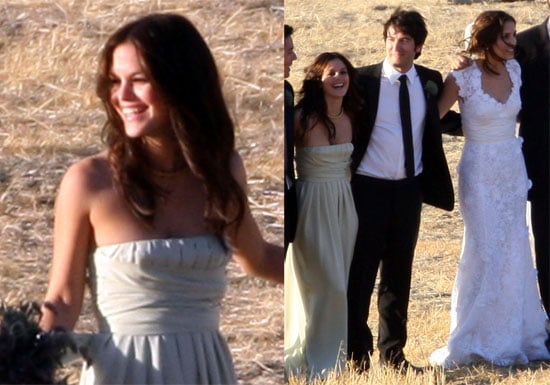 Photos of Rachel Bilson at Josh Schwartz and Jill Stonerock's Wedding
