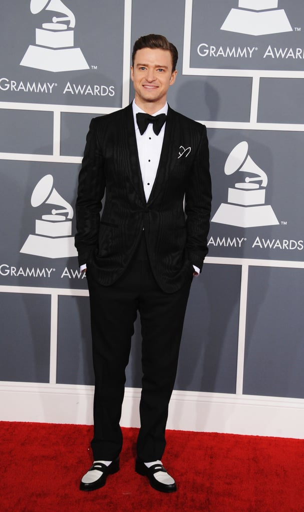 Justin Timberlake looked dapper in a tuxedo for the Grammy Awards.