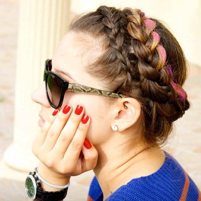 Multicolored Headband Braid