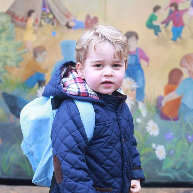 Prince George First Day of School Pictures 2016
