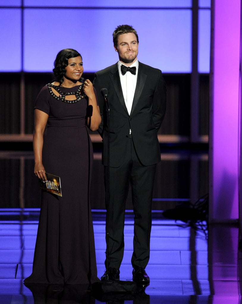 Arrow's Stephen Amell made a dapper appearance on stage with Mindy Kaling.