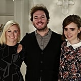 Sam Claflin and Lily Collins stopped by POPSUGAR Now in LA for a chat about their new movie, Love, Rosie, with editor Lindsay Miller on Wednesday.