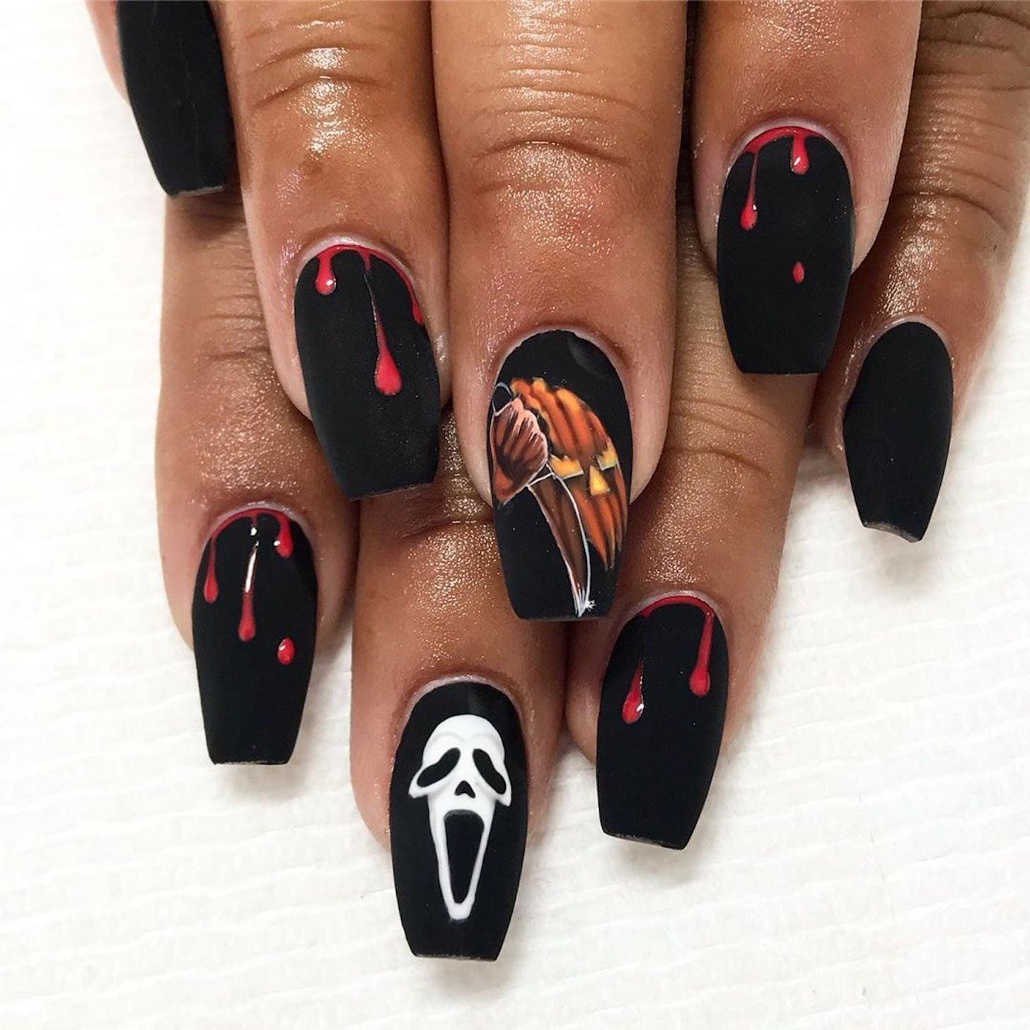Horror Movie Villain Nail Art Ideas & Inspiration   POPSUGAR Beauty UK