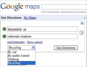 Google Maps Adds Directions For Bikes