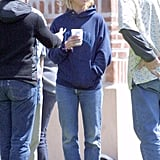 Britney Spears Was Spotted on Set in Jeans Nearly Identical to Gigi's in 2001