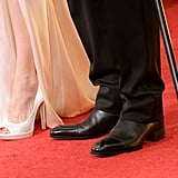 Angelina Jolie and Brad Pitt's shoes at the Golden Globes.