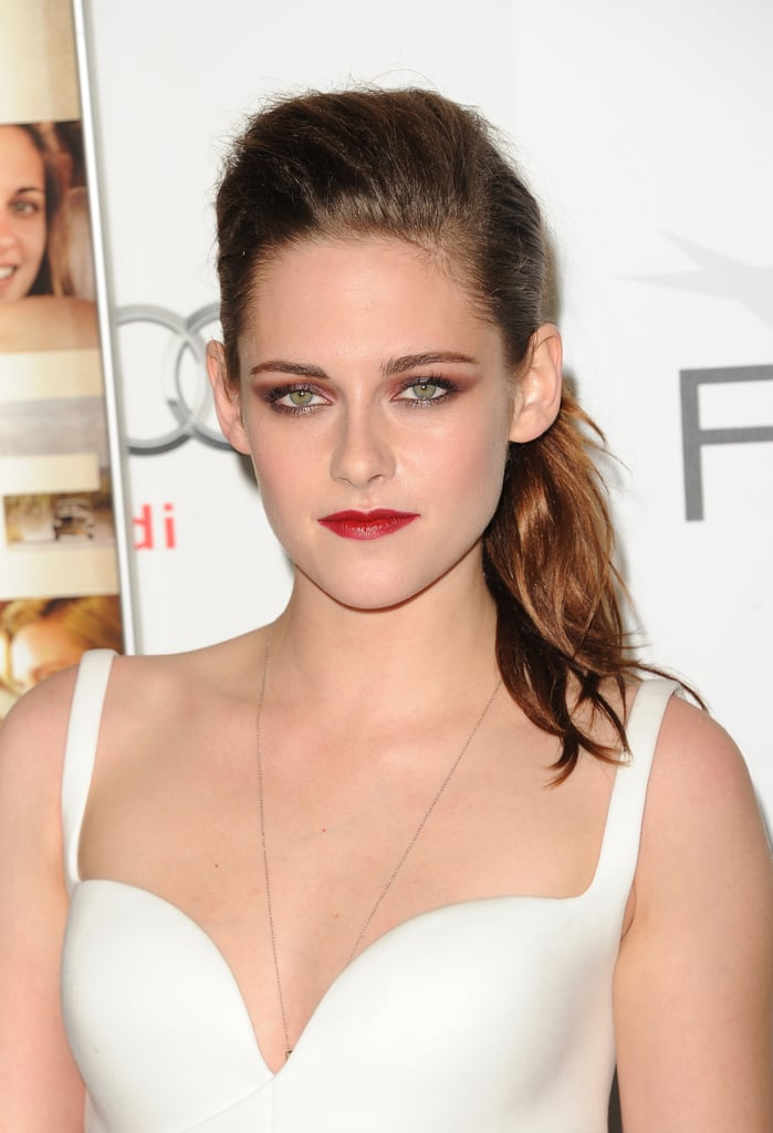Kristen Stewart Wears Rich Burgundy Makeup For On The Road