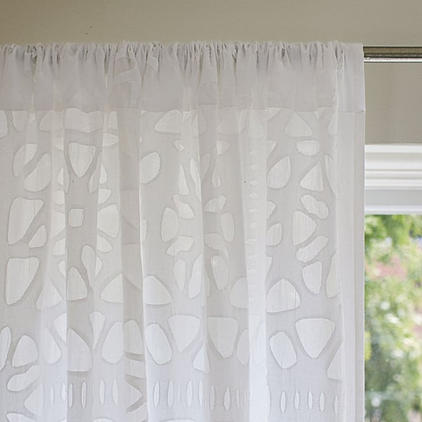 White Cutwork Window Panel ($228-$268)
