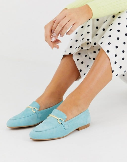 ASOS Blue Suede Loafers