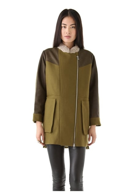 Tba's Petra Wool Coat ($453, originally $647) would look great styled up with a pair of coated denim.
