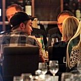 Robert Pattinson went to dinner in Berlin.